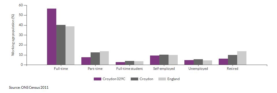 Economic activity in Croydon 029C for 2011