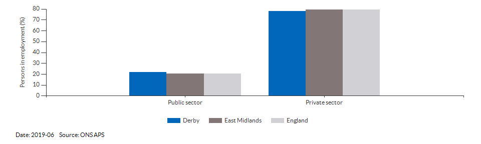 Occupations for the working age population in Derby for 2011